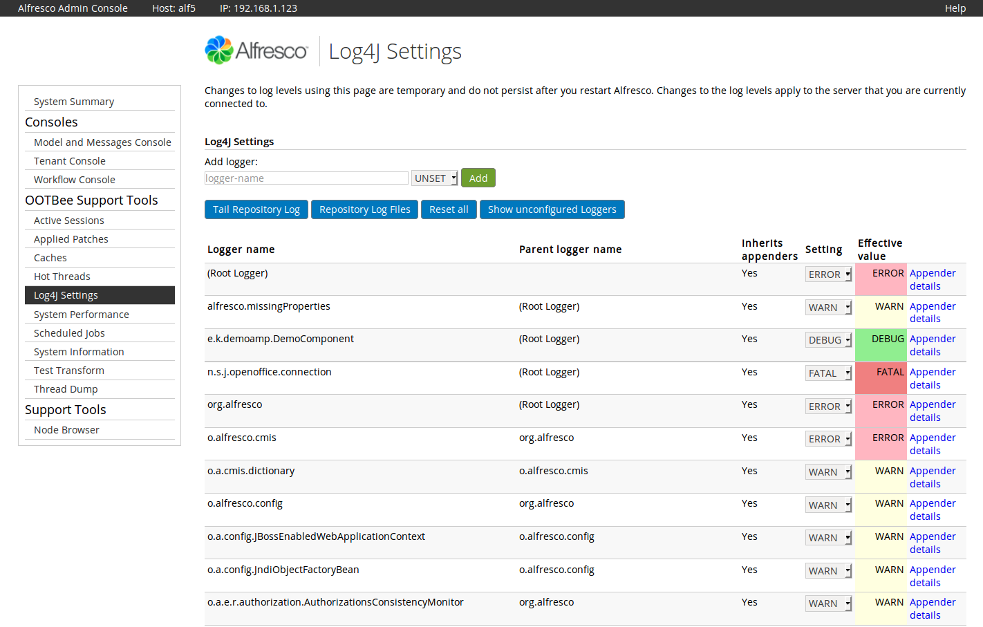 Ootb Support Tools Addon For Alfresco Community Zylk